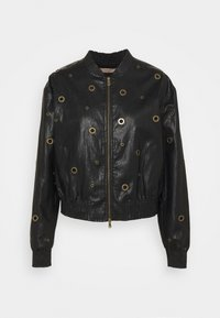TWINSET - BOMBER IN TESSUTO - Faux leather jacket - nero - 0