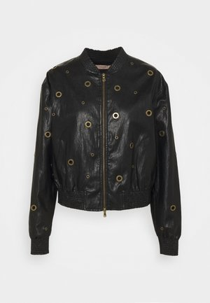 BOMBER IN TESSUTO - Faux leather jacket - nero
