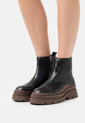 MARCH - Platform ankle boots - black