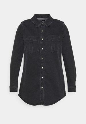 CARMIKKA LONG SHIRT - Košile - dark grey denim