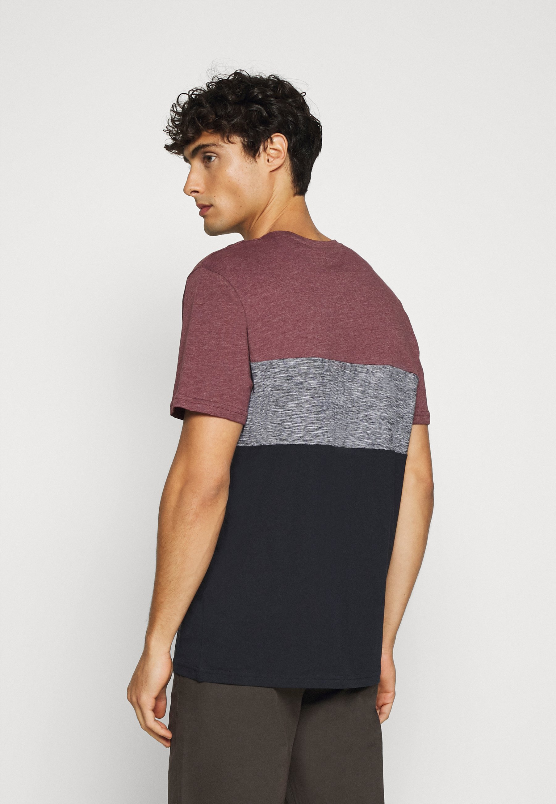 TOM TAILOR Print T-shirt - dusty wildberry red ozPEU