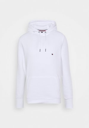 BASIC FLAG HOODY - Bluza z kapturem - white