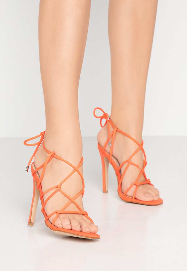 SAVY - High heeled sandals - orange