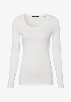 MIT RUNDHALSAUSCHNITT - Long sleeved top - offwhite
