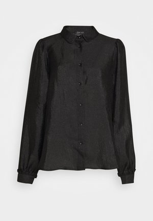 MACY - Button-down blouse - black