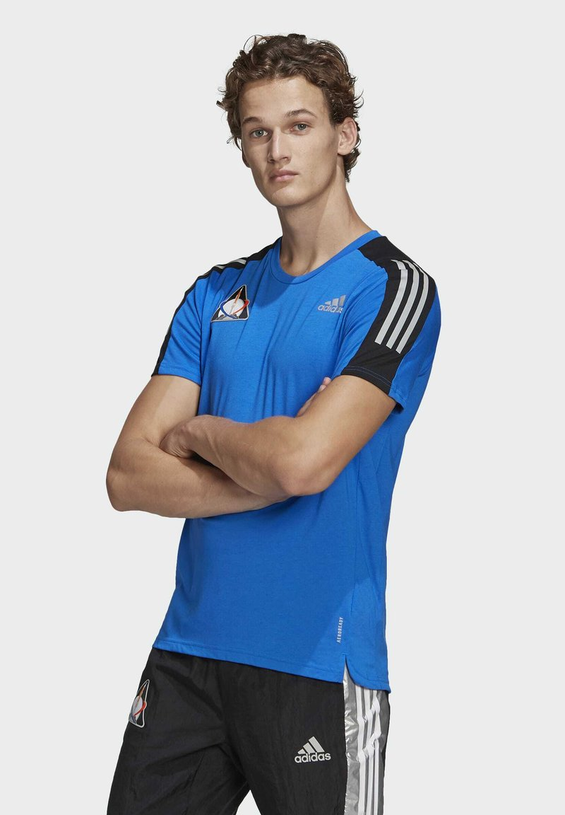 adidas Performance - SPACE TEE M - Sports shirt - fooblu