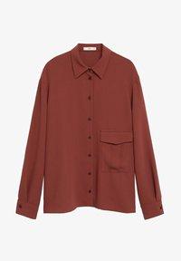 Mango - ARES-I - Button-down blouse - bräunliches orange - 4