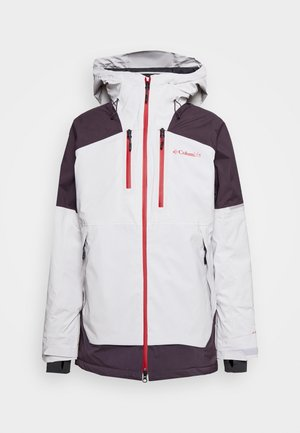 WILD CARD JACKET - Snowboardjacke - nimbus grey/dark purple