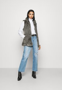 ONLY - ONLOLLIE WAISTCOAT - Waistcoat - charcoal gray - 1