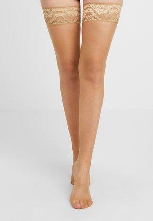 MYSTIQUE - Overknee-strømper - beige
