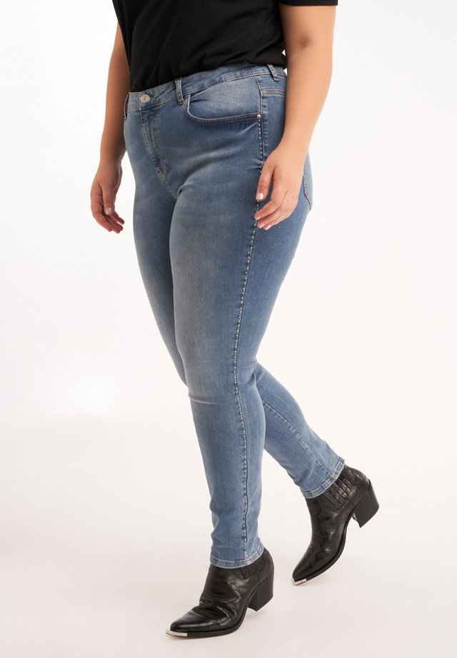 WITH STUDS - Slim fit jeans - blue