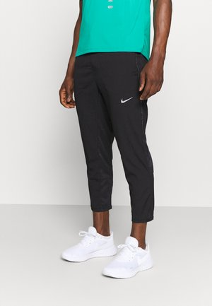 RUN PANT - Tracksuit bottoms - black/silver