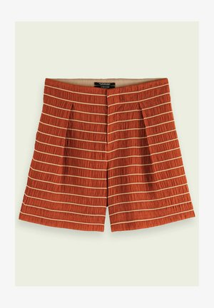 STRIPED PLEATED - Shorts - rust