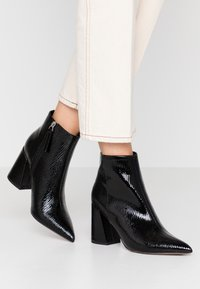 Topshop - HACKNEY POINT - High heeled ankle boots - black - 0
