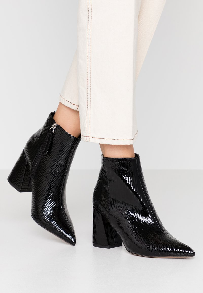 Topshop - HACKNEY POINT - High heeled ankle boots - black