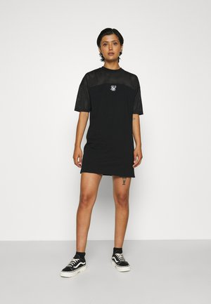 PANELLED DRESS - Jersey dress - black