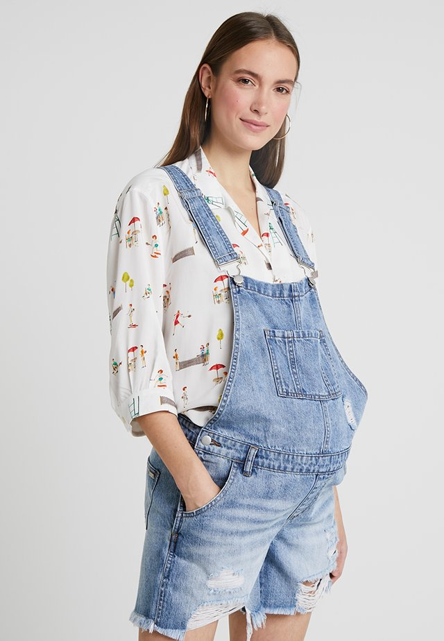 SHORT OVERALLS - Dungarees - pale blue