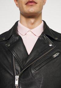 Selected Homme - SLHICONIC BIKER  - Leather jacket - black - 5