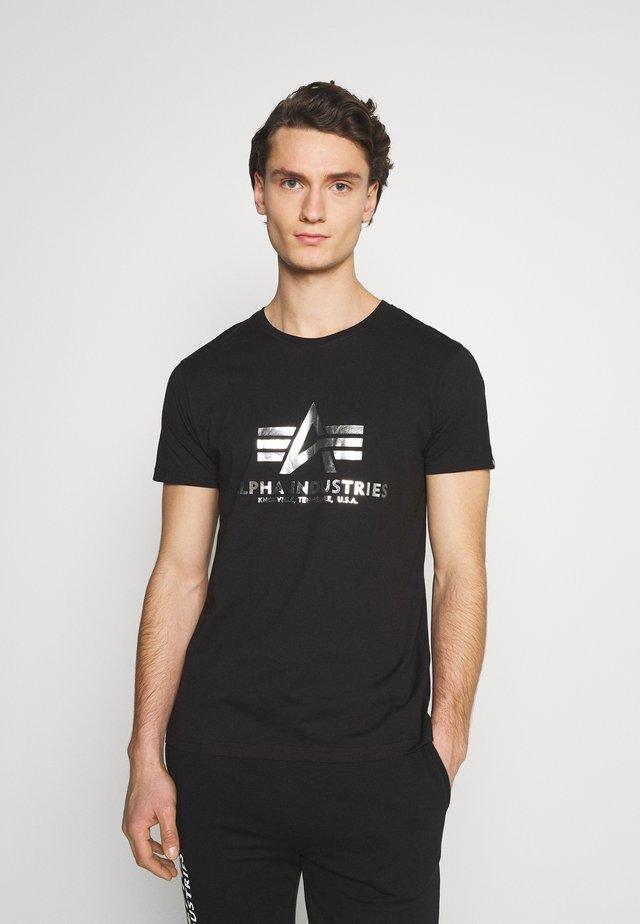 BASIC PRINT - T-Shirt print - black/metalsilver