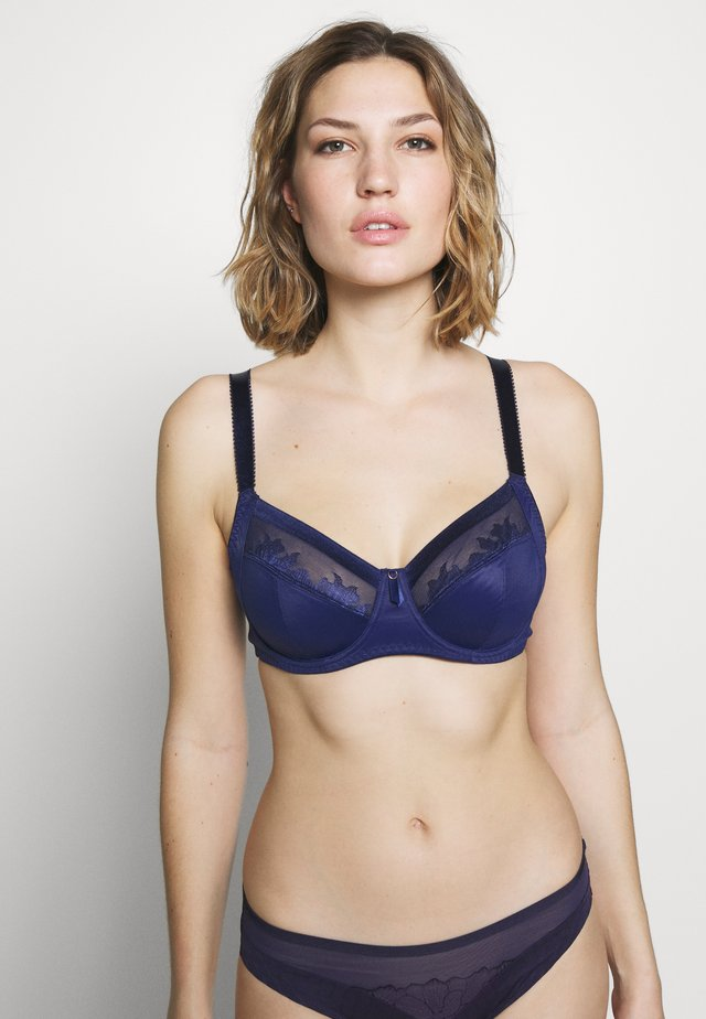 ILLUSION SIDE SUPPORT BRA - Kaarituelliset rintaliivit - navy