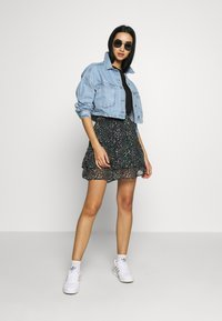 Topshop - CROP JACKET - Denim jacket - blue denim - 1