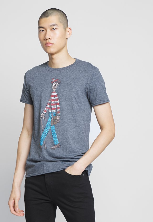 WHERES WALDO - T-shirt imprimé - charcoal
