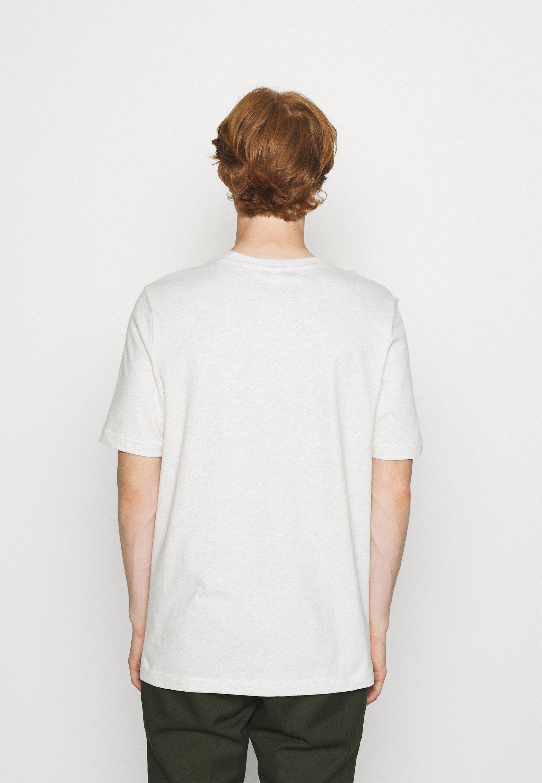 Men VECTOR TEE - Print T-shirt - chalk