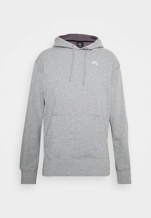 HOODIE UNISEX - Mikina s kapucí - grey heather/white