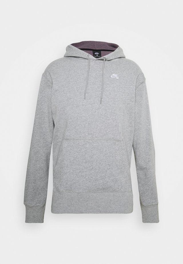HOODIE UNISEX - Luvtröja - grey heather/white