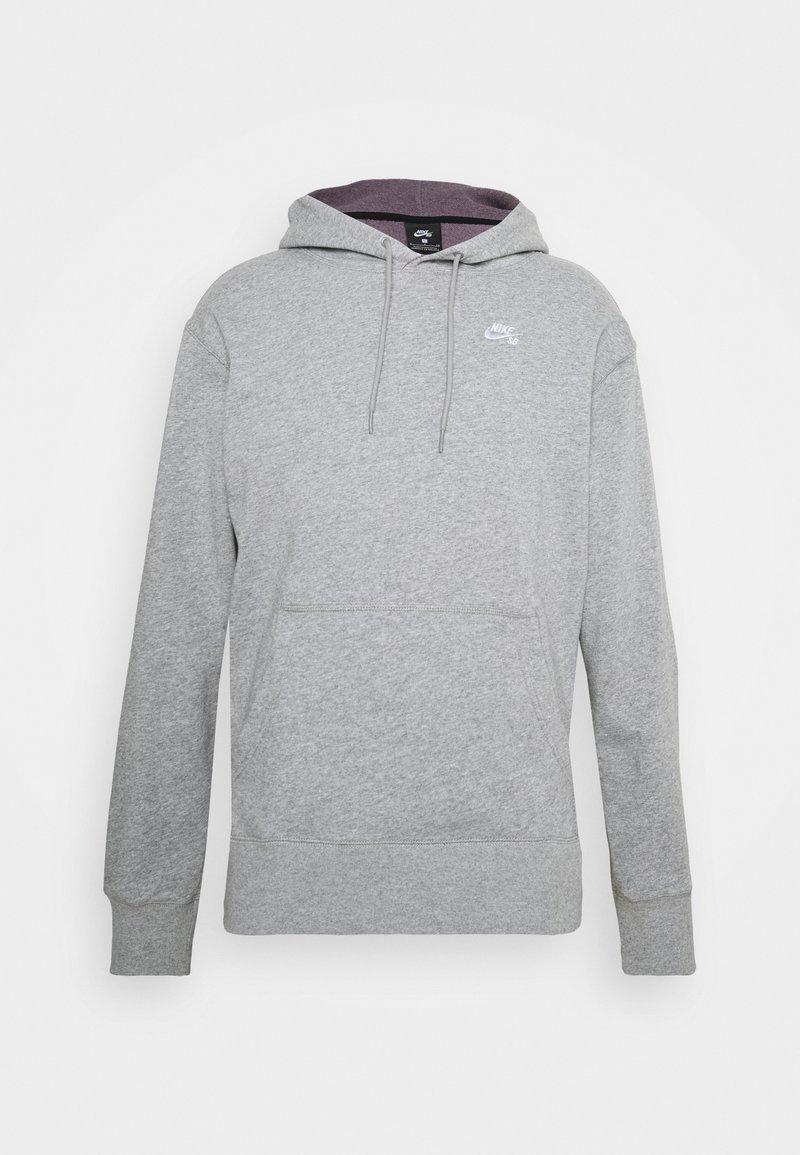 Nike SB - HOODIE UNISEX - Hoodie - grey heather/white