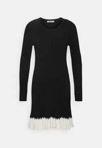 TWINSET - ABITO IN MAGLIA CON BALZINA - Jumper dress - nero/neve - 5
