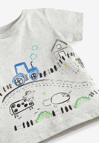 Next - Print T-shirt - grey - 2