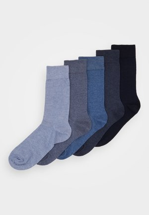 5 PACK - Socks - mottled blue