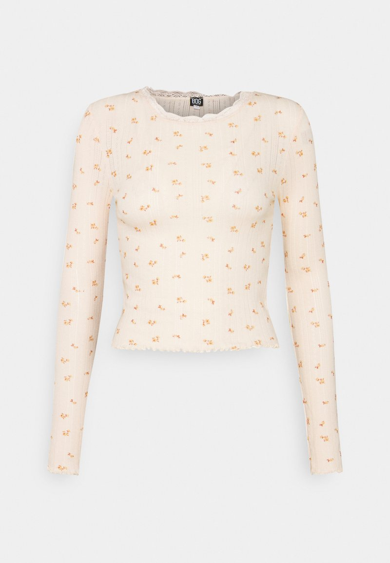 BDG Urban Outfitters - FLORAL EDGE TEE - Topper langermet - peach