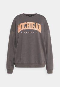 Missguided Plus - PLUS SIZE MICHIGAN SWEATER - Sweatshirt - grey - 0