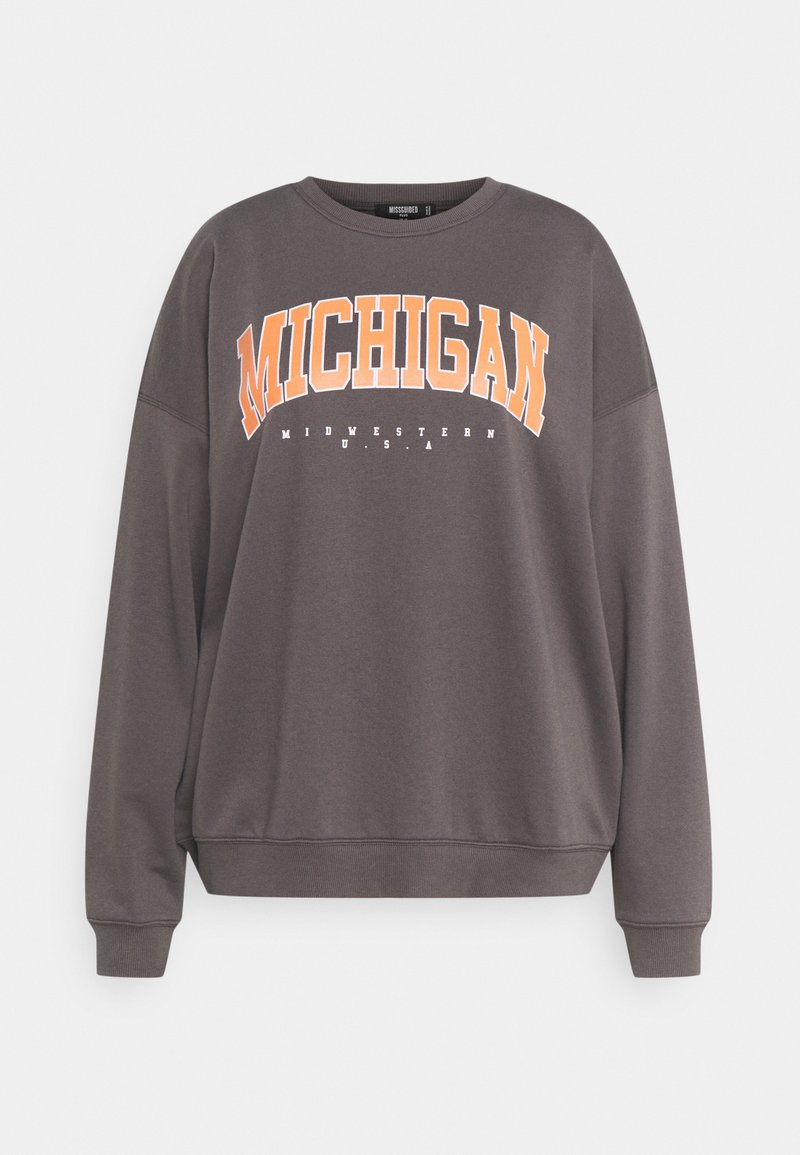 Missguided Plus - PLUS SIZE MICHIGAN SWEATER - Sweatshirt - grey