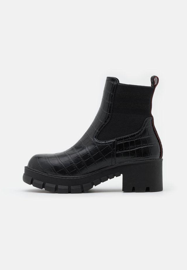MARLOW - Bottines à plateau - black