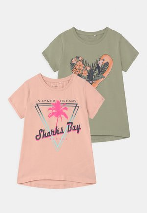 NKFVIX 2 PACK - T-shirts print - peach whip
