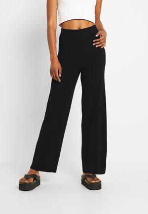 ONLKAMMA WIDE - Trousers - black