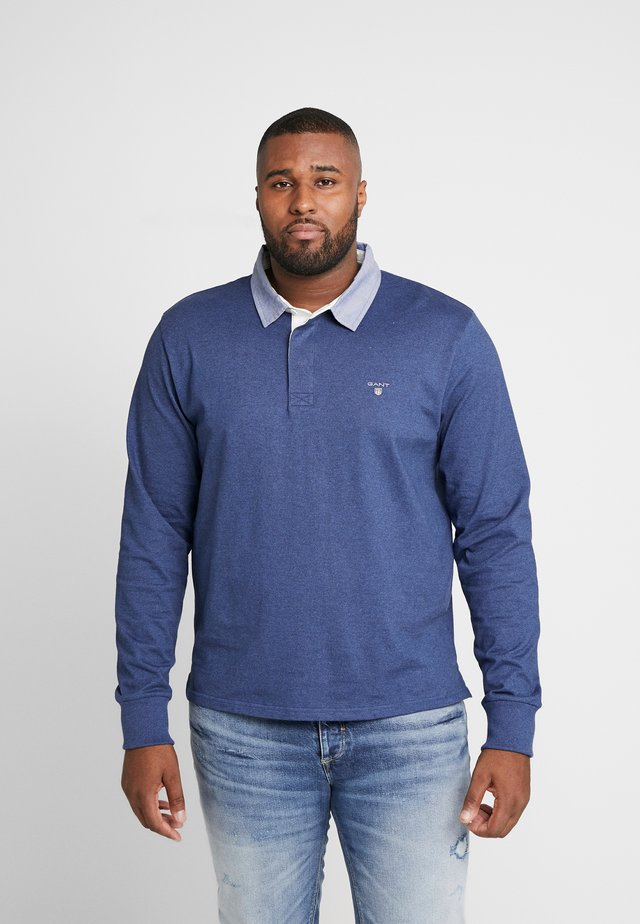 THE ORIGINAL HEAVY RUGGER - Polo shirt - navy melange