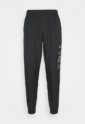 PANT - Tracksuit bottoms - black/silver