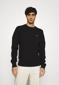 Tommy Hilfiger Tailored - DRIVING CREW NECK - Jumper - black - 0