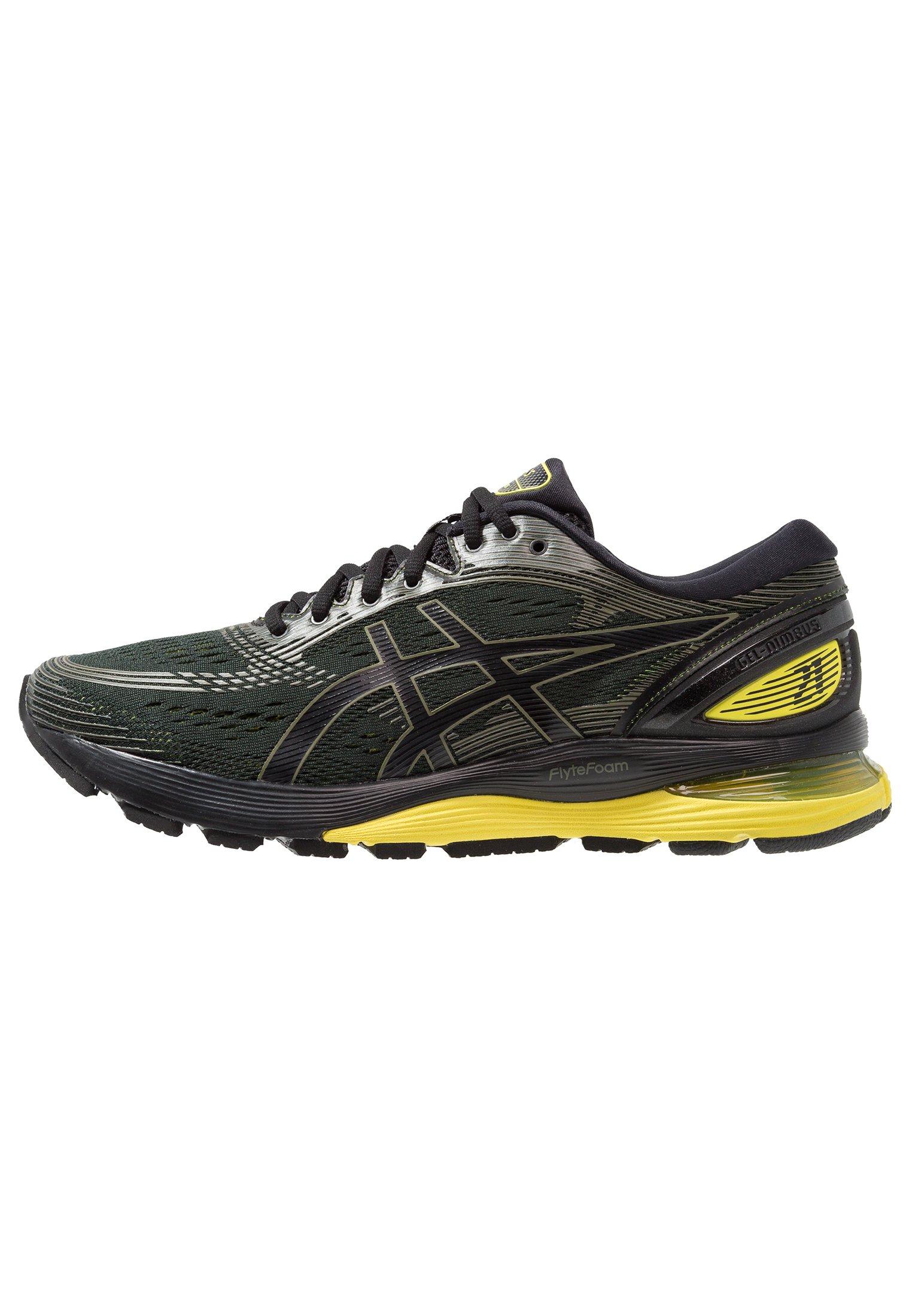 GEL-NIMBUS 21 - Zapatillas de running neutras - black/lemon spark