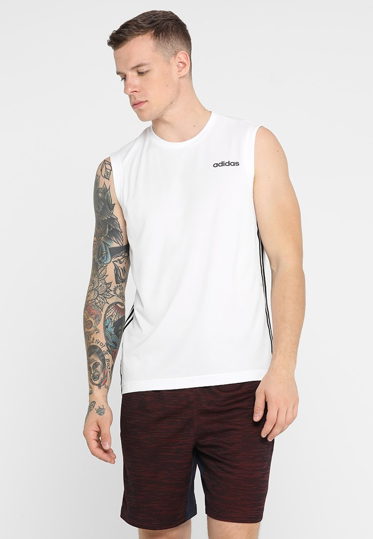 adidas Performance - 3STRIPES AEROREADY SLEEVELESS T-SHIRT - Camiseta de deporte - white