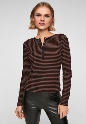 MIT STREIFEN - Longsleeve - brown stripes