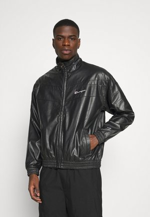 FULL ZIP - Veste en similicuir - black