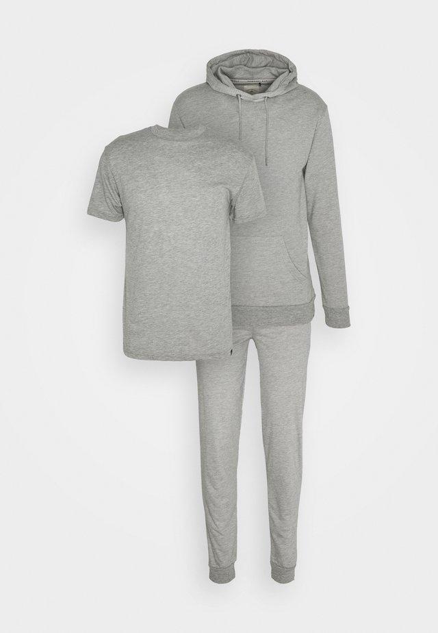 CORE LOUNGE SET - Basic T-shirt - grey marl