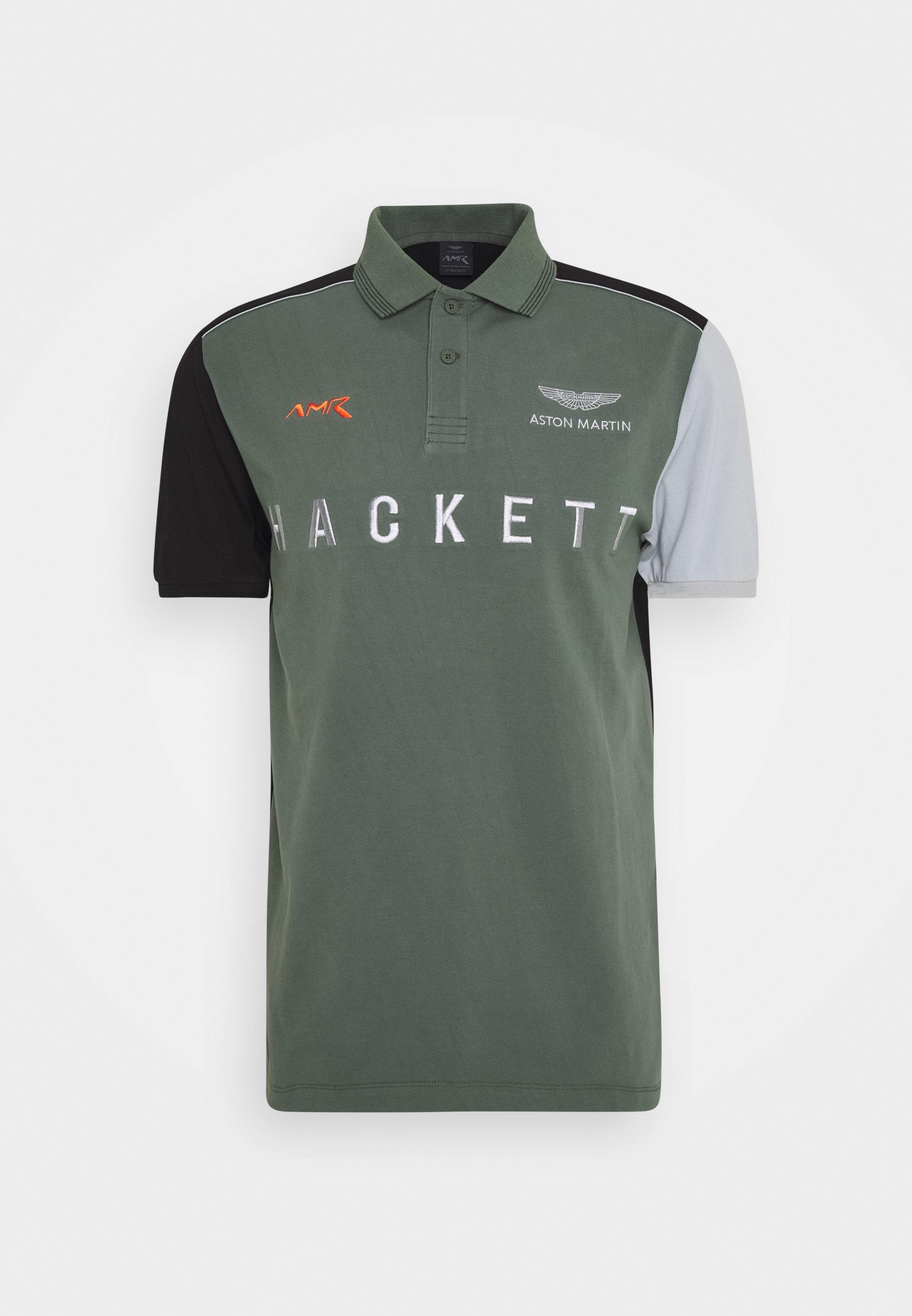 Hackett Aston Martin Racing Poloshirt Green Multi Grün Zalando De