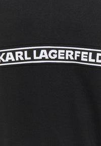 KARL LAGERFELD - LOGO TAPE ZIP-UP - Sweatjacke - black - 6