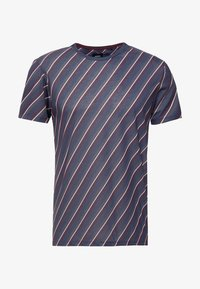 Burton Menswear London - DIAGONAL STRIPE - Print T-shirt - navy - 3